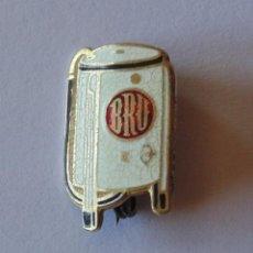 Pins de colección: PIN (AGUJA, BROCHE) BRU. LAVADORA DE TURBINA. PUBLICIDAD ELECTRODOMÉSTICOS. ESMALTADO. Lote 64179043