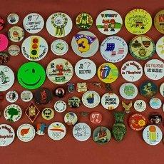 Pins de colección: COLECCION DE 96 CHAPAS E INSIGNIAS. METAL. MOTIVOS VARIADOS. SIGLO XX. . Lote 67935101