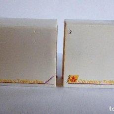 Pins de colección: DOS SELLO PIN DE LA EXPO 92 HECHO A MANO Y CAJA Y ENVOLTORIO ORIGINAL DE CORREOS. Lote 69619481