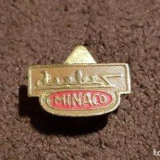 Pins de colección: PIN ANTIGUO EMBLEMA MARCA BICICLETAS MINACO PALMA DE MALLORCA (RARA INSIGNIA ANTIGUA DE OJAL). Lote 71961651