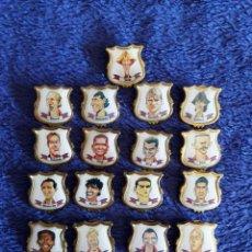 Pins de colección: JUGADORES DEL BARCELONA / 21 PINS. Lote 72360331