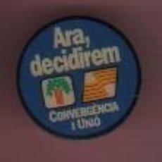 Pins de colección: PIN DE CLIP O PICHO CONVERGÉNCIA I UNIÓ - ARA DECIDIREM - VARIEDAD AZUL. Lote 183899623