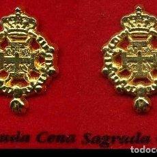 Pins de colección: 2 INSIGNIAS ORO DE LA HERMANDAD O COFRADIA DE LA SEMANA SANTA DE JEREZ( SAGRADA CENA ) Nº40 Y 41. Lote 72878447