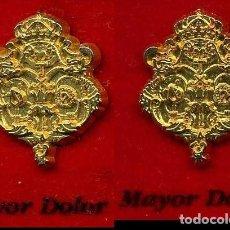 Pins de colección: 2 INSIGNIAS ORO DE LA HERMANDAD O COFRADIA DE LA SEMANA SANTA DE JEREZ( MAYOR DOLOR )Nº56 Y 57. Lote 72901495
