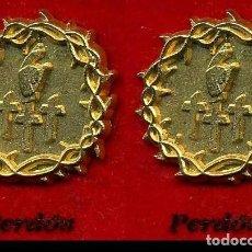 Pins de colección: 2 INSIGNIAS ORO DE LA HERMANDAD O COFRADIA DE LA SEMANA SANTA DE JEREZ( PERDON )Nº68 Y 69. Lote 72915555