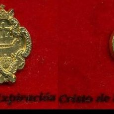 Pins de colección: 2 INSIGNIAS ORO DE LA HERMANDAD O COFRADIA DE LA SEMANA SANTA DE JEREZ(CRISTO DE LA EXPIRA Nº74 Y 75. Lote 72917807
