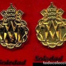 Pins de colección: 2 INSIGNIAS ORO DE LA HERMANDAD O COFRADIA DE LA SEMANA SANTA DE JEREZ(SOLEDAD )Nº76 Y 77. Lote 72918155