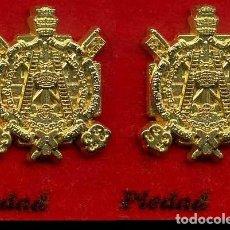 Pins de colección: 2 INSIGNIAS ORO DE LA HERMANDAD O COFRADIA DE LA SEMANA SANTA DE JEREZ( PIEDAD )Nº78 Y 79. Lote 72919535