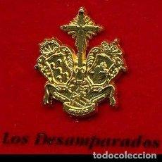 Pins de colección: INSIGNIA ORO DE LA HERMANDAD O COFRADIA DE LA SEMANA SANTA DE SAN FERNANDO( LOS DESAMPARADOS )Nº98. Lote 73011739
