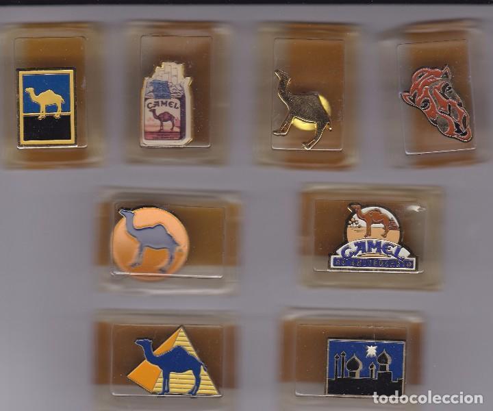 COLECCION DE 8 PINS DE TABACO CAMEL NUEVOS Y EN SUS ESTUCHES ORIGINALES (Coleccionismo - Pins)