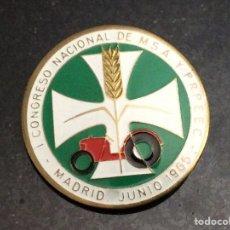 Pins de colección: I CONGRESO NACIONAL DE MSA Y PRPEEC MADRID JUNIO 1965. Lote 74360958