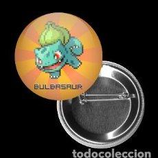 Pins de colección: CHAPA 32MM, BULBASAUR, POKEMON, RETRO, FREAK, VIDEOJUEGO, PIXEL. Lote 80073081