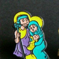 Pins de colección: PIN PESEBRE NAVIDAD BELEN SAN JOSE, VIRGEN MARIA Y NIÑO JESUS. Lote 149385482