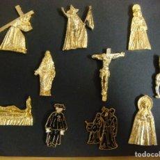 Pins de colección: LIQUIDACION LOTE DE ( PINS COLECCION DE 10 PINS DE SEMANA SANTA ). Lote 195032320