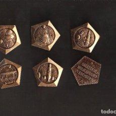 Pins de colección: COLECCION DE 6 INSIGNIAS IMPERDIBLE -TEMA ASTRONAUTAS - ESPACIO- MUY ANTIGUA - LAS DE LA FOTO - . Lote 81776996