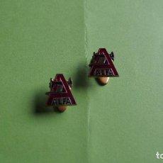 Pins de colección: PIN INSIGNIA ESCUDO EMBLEMA MAQUINAS COSER ALFA. ESMALTADO. AÑOS 1960. Lote 82589228