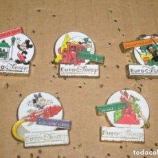 Pins de colección: -PIN : LOTE DE 5 PINS DE EURODISNEY -- COLECCION COMPLETA -- . Lote 85847147