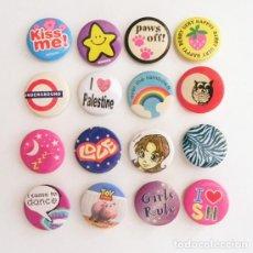Pins de colección: 3€ CADA CHAPITA CHAPA CON IMPERDIBLE CHAPAS UNDERGROUND ESTRELLA LOVE TOY STORY BÚHO FRESA ARCO IRIS. Lote 85259232