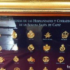 Pins de colección: COLECCION DE INSIGNIAS DE LAS HERMANDADES Y COFRADIAS DE LA SEMANA SANTA DE CADIZ.. Lote 85528524