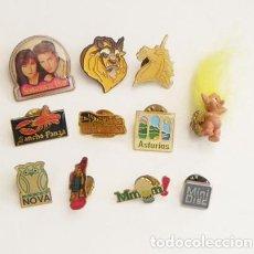 Pins de colección: LOTE DE PINS LA BESTIA BÚHO UNICORNIO SENSACIÓN DE VIVIR - DUENDE PELO AMARILLO ASTURIAS - Y MÁS PIN. Lote 86184064