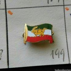 Pins de colección: ANTIGUA INSIGNIA AGUJA PIN ALFILER PIN BANDERA DE IRÁN PERSIA NACIONAL IRANÍ. Lote 86835559