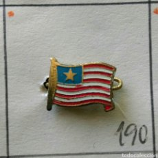 Pins de colección: ANTIGUA INSIGNIA AGUJA PIN ALFILER PIN BANDERA DEL MUNDO LIBERIA. Lote 86863478