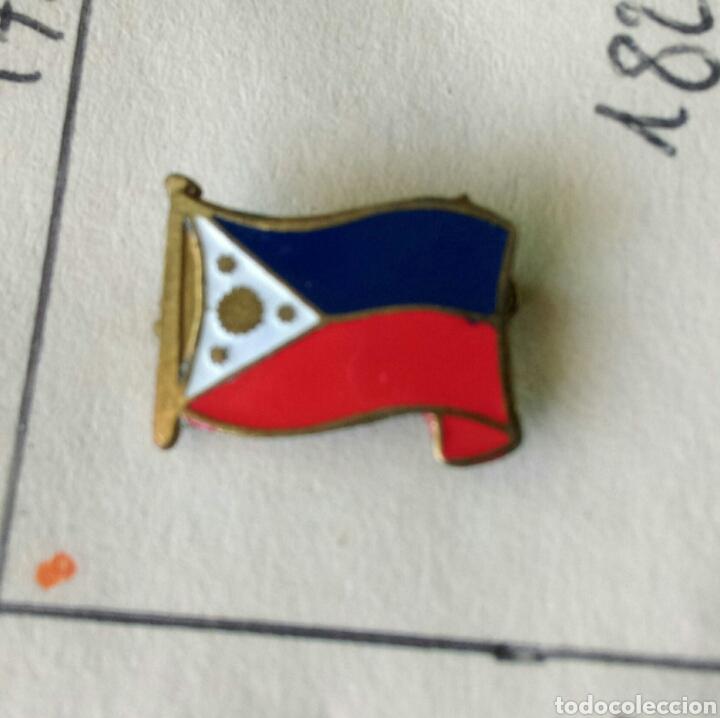 ANTIGUA INSIGNIA AGUJA PIN ALFILER PIN BANDERA FILIPINAS (Coleccionismo - Pins)