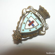 Pins de colección: ANTIGUA INSIGNIA ESMALTADA...COMPOSICION MUSICAL..GLORIA TIBI TRINITAS.. Lote 88363092