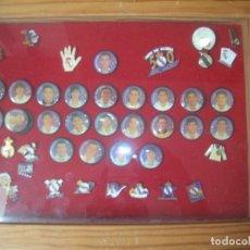 Pins de colección: 21 PINS JUGADORES REAL MADRID, ALGUN JUGADOR DESPEGADO DE LA BASE.. Lote 88927440
