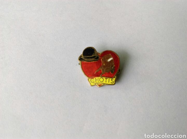 Antiguo pin insignia aguja amo me gusta Chotis baile
