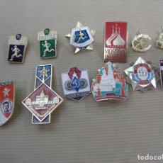 Pins de colección: LOTE 12 PIN PINS BROCHE MOSCU RUSIA URSS CCCP COMUNISTA. Lote 90514025