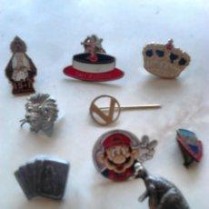 Pins de colección: LOTE 9,PINS DIFERENTES, MARIO BROS,SAN VALENTÍN, DINOSAURIO,ENTRE OTROS,VER FOTOS. Lote 92373447