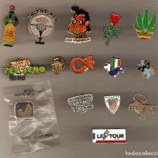 Pins de colección: GRAN LOTE 15 PINS MUY VARIADOS WHISKY JB FUTBOL ATH. BILBAO PEQUEÑO PAIS LE TOUR + OTROS OFERTA !!!!. Lote 94062480