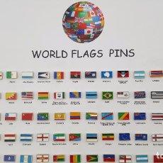Pins de colección: COLECCION PINS BANDERAS DEL MUNDO. Lote 55015691