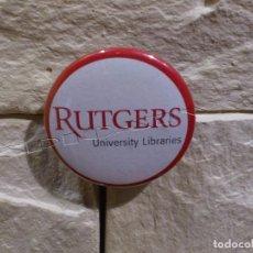 Pins de colección: RUTGERS UNIVERSITY LIBRARIES - PIN - CHAPA - CHAPITA - NEW JERSEY - EE.UU - IMPERDIBLE - RARA. Lote 95906671