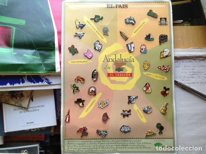 PINS. ANDALUCIA EN EL,CORAZÓN. COMPLETA (Coleccionismo - Pins)