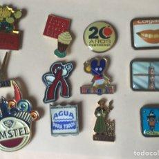 Pins de colección: LOTE 12 PIN - PUBLICIDAD AÑOS 80/90. Lote 96433784
