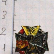 Pins de colección: VIEJO PIN LABORA PRO PATRIA COEC (COL·LEGI OFICIAL ODONTOLEGS I ESTOMATOLEGS CATALUNYA). Lote 96532119