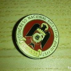 Pins de colección: INSIGNIA DE SOLAPA ESMALTADA. CONGRESO NACIONAL DIGESTIVO. GRANADA JUNIO 1957. PIN. Lote 97463471