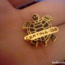 Pins de colección: PIN PINCHO PUBLICIDAD CERTINA DS TORTUGA MUY BUSCADO . Lote 98808063