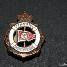 Pins de colección: PIN INSIGNIA DE OJAL ESMALTADO - COMPAÑIA TRANSMEDITERRANEA. Lote 101386227