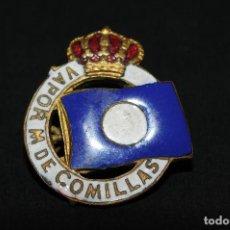 Pins de colección: PIN INSIGNIA DE IMPERDIBLE ESMALTADO - VAPOR M DE COMILLAS. Lote 101387867
