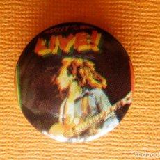 Pins de colección: CHAPA OCHENTERA - ANTIGUO PIN DE LOS AÑOS 80 - BOB MARLEY - LIVE !- 25 MM.. Lote 102034119