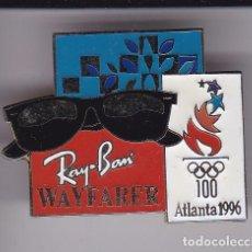 Pins de colección: PIN DE RAY-BAN CLASSIC METAL OLIMPIADA ATLANTA 1996 - WAYFARER. Lote 103578103