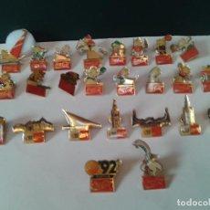 Pins de colección: 2 COLECCIÓNES PINS COCA COLA COMPLETAS 16 BARCELONA 92 CON COBI Y 9 EXPO DE SEVILLA 92 CON CURRO.. Lote 178989631
