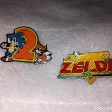 Pins de colección: LOTE DOS PINS SEGA Y ZELDA. Lote 106376075