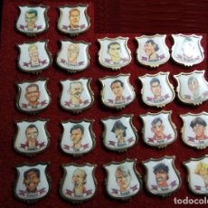 Pins de colección: 21 PINS CARICATURAS DREAM TEAM.F.C.BARCELONA Y GRAN PIN BARÇA. Lote 108743463