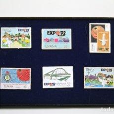 Pins de colección: CONJUNTO SELLOS PINS - EXPO DE SEVILLA 92 - MEDIDAS 4 X 3 CM / 3 X 4 CM. Lote 109274939