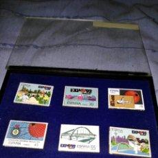 Pins de colección: COLECCIÓN COMPLETA DE PINS SELLOS METÁLICOS DE LA EXPO DEL 92. Lote 109505500