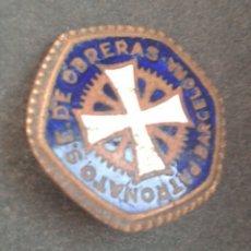 Pins de colección: ANTIGUO PIN AGUJA PATRONATO S.E. DE OBRERAS BARCELONA. Lote 110105788